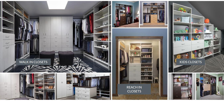 Custom closet systems organizers